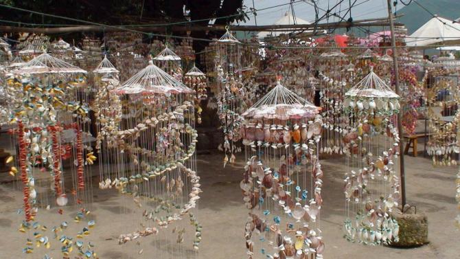 贝壳做的手工艺品图片